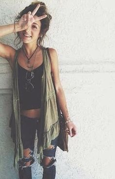 Nach dem Boho können wir auch Hippe - Einfach super lässiger Sommerstyle *** No matter Boho or Hippie - we love the Easy and Cool Summerlook