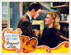 Vivacious Lady, 1937, Ginger Rogers, James Stewart, Charles Coburn