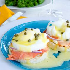 This Smoked Salmon Eggs Benedict recipe has a secret ingredient to make it extra special and extra delicious for your Mother's Day brunch.