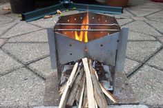 Collapsible Wood Burning Camp Stove (On a Budget!): 3 Steps (with Pictures) Auto Camping, Diy Camping, Camping With Kids, Camping Cabins, Kayak Camping, Truck Camping, Camping Stuff, Camping Ideas, Wood Burning Camp Stove