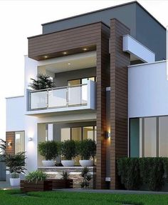 66 Beautiful Modern House Designs Ideas - Tips to Choosing Modern House Plans Modern Exterior Design Ideas Luxury Home Duplex House Design, Unique House Design, House Front Design, Modern Design, Apartment Design, Architecture Design, House Architecture Styles, Minimalist Architecture, Residential Architecture