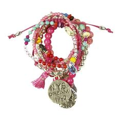 Cat Hammill Dream Bracelets Set Hot Pink