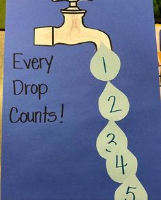 toddlers every drops count - Homeschool Craft and Art Montessori Activities, Water Activities, Save Water Poster Drawing, Poster On Save Water, Water Crafts Preschool, Water Slogans, Save Environment, Classroom Art Projects, World Water Day