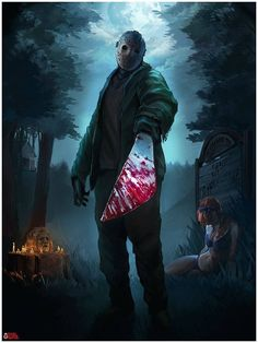 Jason Friday The Scary Movies, Horror Movies, Funny Movies, Slasher Movies, Horror Artwork, Horror Icons, Friday The 13th, Jason Friday, Horror Show