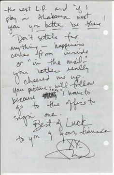 Letter from Fiona, Hearts of Fire.