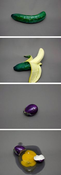 Optical illusions make food look differently than what it is. | hyperrealistic painting | fool the eye
