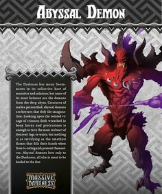 The Abyssal Demon is capable of unleashing devastating attacks of dark magic! On their own, these attacks are already extremely powerful, but their Enchantments often bring despair. Each Bam rolled adds one wound, while each Diamond rolled adds three wounds to the poor soul targeted by the Abyssal Demon.