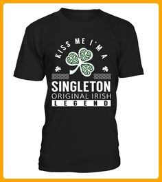 Kiss Me I am a SINGLETON Original Irish Legend - Shirts für singles (*Partner-Link)