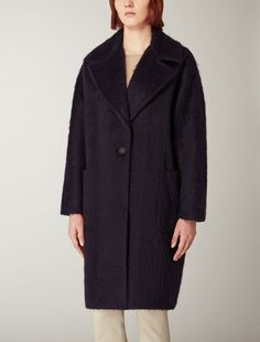 Max Mara OZIO ultramarine: Alpaca and wool overcoat.