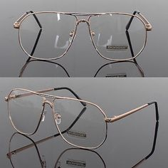 🔥BLACK FRIDAY SALE🔥Clear Vintage Aviators ✨✨ Brand new • also available in silver see separate listing • Unbranded Accessories Glasses