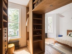 Close storage // A Bespoke London Home for An Interior Designer | Rue