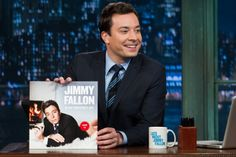 Jimmy Fallon with his Blow Your Pants Off cover art