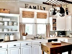 In LOVE with this kitchen!!! it just needs and apron sink