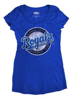 Kansas City (KC) Royals Women s Royal Blue  02- 05 Alternate Logo Scoop  Neck T-Shirt BY Majestic Threads  34.99  EXCLUSIVE  at www.rallyhouse.com 2df8c1824c12