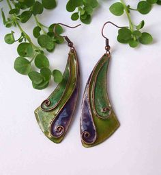 Check out this item in my Etsy shop https://www.etsy.com/listing/221372495/lifespiral-cloisonne-enamel-earrings-in