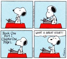 Snoopy Writing: What a Great Start!