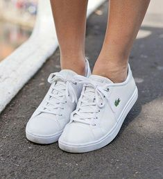 2c734105c26 Lacoste Womens Straightset BL Leather Sneakers  Sneakers