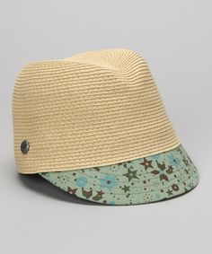 Take a look at this Natural & Blue Floral Hat by Kangol on #zulily today!