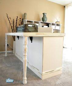 dresser into desk/table Brilliant!!