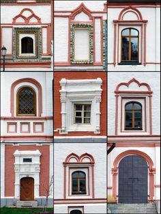 В одном из монастырей Валдая. Окна и двери.
