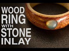 Wood Ring with Stone Inlay / Anell de fusta amb incrustació de pedra - YouTube