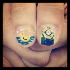 Blue 'n Yellow Duckie 'n Minion :))