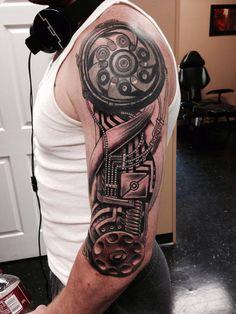 Biomechanical Sleeve Tattoo | Best tattoo ideas & designs