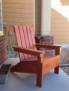 Simple Adirondack Chair | Do It Yourself Home Projects from Ana White