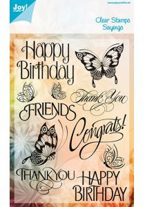 Craft - Assorted Text W/Butterflies Clear Stamp Set - 100308 Clear Stamps, Sale Items, Are You Happy, Happy Birthday, Butterfly, Joy, Crafts, Happy Aniversary, Happy B Day