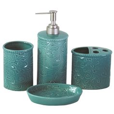 Found it at Wayfair - Savannah 4-Piece Bathroom Accessory Set