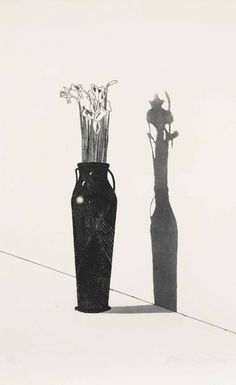 David Hockney, Vase and Flowers (1969)