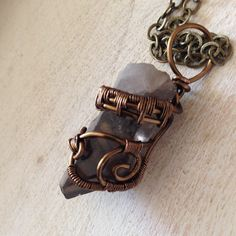 Protective Smokey Quartz Pendant Smokey quartz is perfect for grounding and for protecting your energy field. It keeps negativity at bay by converting all energy, internal and external into positive energy. It works gently over time building a strong foundation of inner love for you to stand on. #smokeyquartz #fireandwire #wirewrap #wirework #freespirit #reiki https://www.etsy.com/listing/225078448/protective-smokey-quartz-pendant