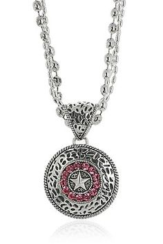 Montana Silversmiths Silver Hammered Concho Necklace
