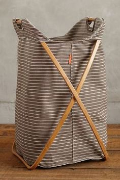 Magus Tall Cross-Fold Laundry Basket #anthrofave #anthropologie #bathroom