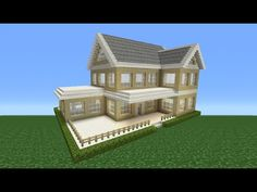 Minecraft Tutorial: How To Make A Suburban House - 2 - YouTube