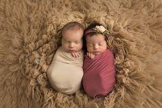 beautiful boy/girl twin newborn session www.heatherarmijophotography.com