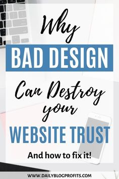 Discover the biggest mistake in website design that can destroy your website trust and how to avoid it. Web Design Tips, Graphic Design Tips, Blog Design, Branding Your Business, Business Design, Business Tips, Simple Website, Online Business, Business Education