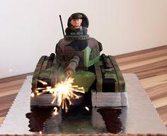 Army Birthday Parties, Army's Birthday, Birthday Party Themes, Birthday Cakes, Tank Cake, 50th Cake, World Of Tanks, Cake Decorating Tips, Superhero