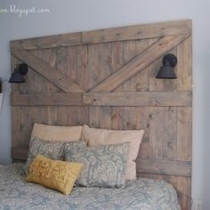 Barn Door Headboard DIY @Apryl Bradford Stafford Square