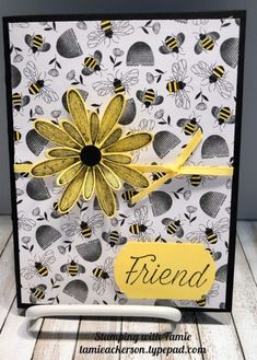 Daisy Lane by Stampin Up Butterfly Cards, Flower Cards, Daisy Delight Stampin' Up, Honey Bee Stamps, Bee Cards, Bee Theme, Scrapbook Cards, Scrapbooking, Stamping Up Cards
