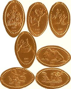 got a book filled with these Disney pressed penny souvenir - tips
