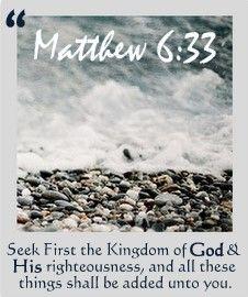 Seek God first!