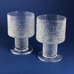 Pair of iittala Finland Paadar Beer Glasses #2136 Designed by Tapio Wirkkala (2) #Paadar