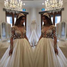 """Layal  #finalfitting #sobeautiful #bridetobe #weddingday #weddingdress #hautecouture #princess #princessgown #designergown ❤️"""