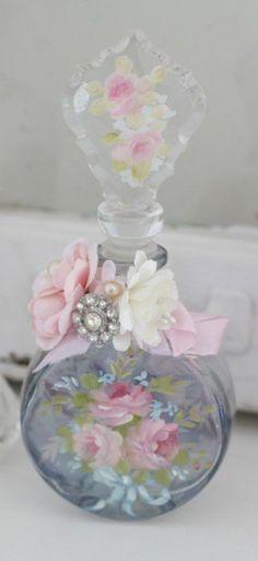 Pink Rose Perfume Bottle