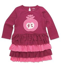 Nordic Apples Tiered Dress by Hatley