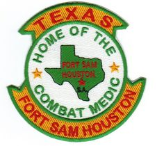 US ARMY POST PATCH, FORT SAM HOUSTON TEXAS, HOME OF THE COMBAT MEDIC         Y   picclick.com