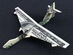 BOEING 747 Money Origami Airplane - Made with Three Hundred Dollar Bills