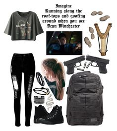 Designer Clothes, Shoes & Bags for Women Bad Girl Outfits, Teenager Outfits, Edgy Outfits, Grunge Outfits, Cute Casual Outfits, Supernatural Inspired Outfits, Ropa Teen Wolf, Runners Outfit, Supernatural Imagines