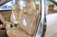 Leopard Hello Kitty Car Accessories! <3